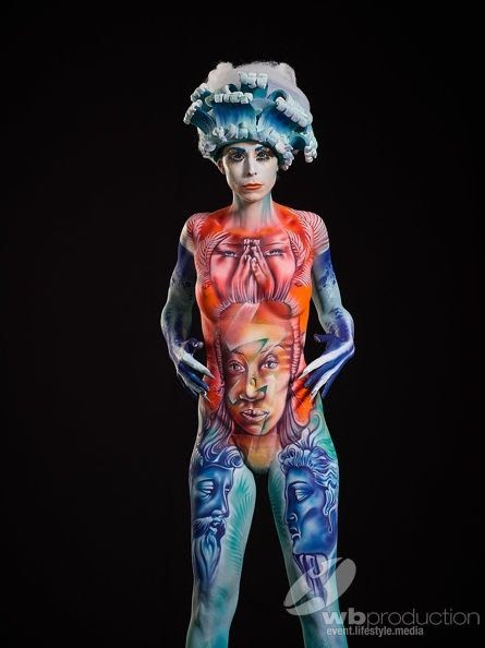 Steek Double Bodypainting World Champion Kariculture
