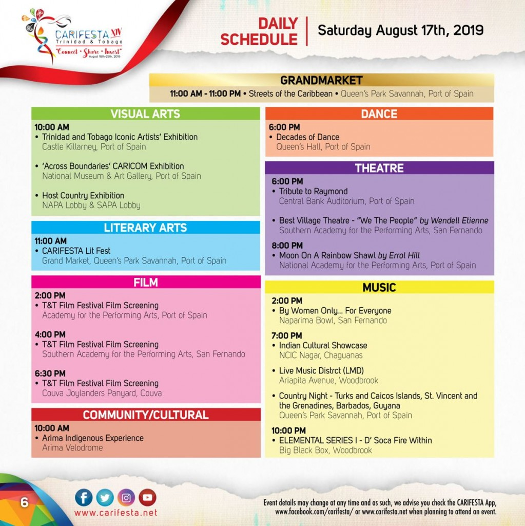 Carifesta Xiv Programme Of 10 Days Of The Best Caribbean Culture Kariculture