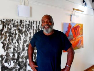 The famous painter Earl Darius Etienne from the island of Dominica (Photo: Évelyne Chaville)