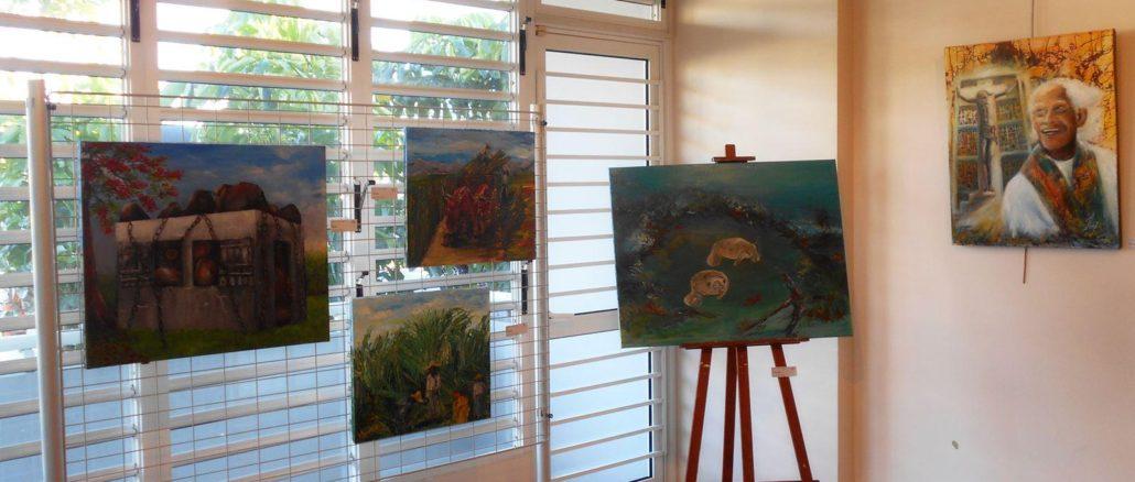 """Dix artistes  ont participé à cette exposition intitulée """"Zyé Ouvè asi Manten"""" (Regard sur Le Lamentin)."""