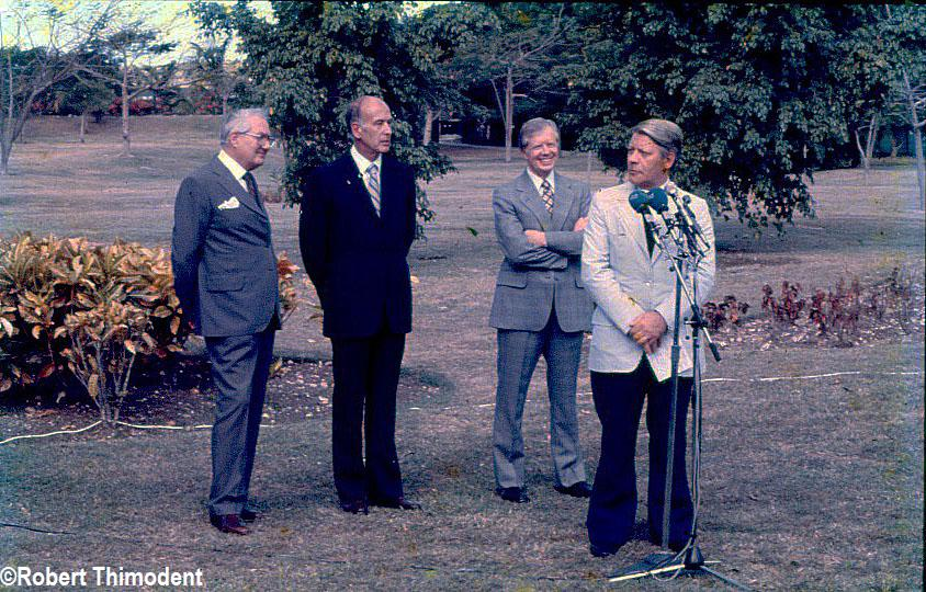 Robert Thimodent 1 - Sommet Valéry Giscard d'Estaing, Jimmy Carter, Helmut Schmidt, James Callaghan