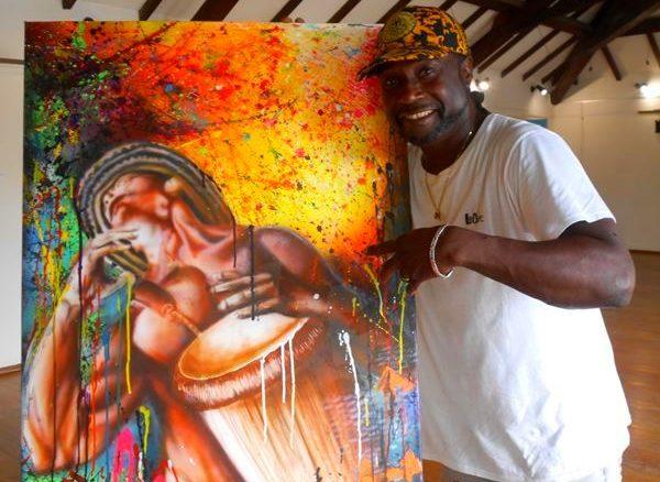 The visual artist Évanor Ficadière - Photo: Évelyne Chaville