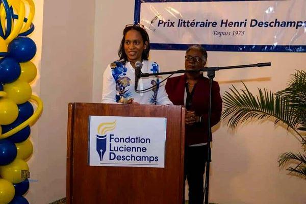 Farah-Martine Lhérisson at the Henri Deschamps Literary Prize - Photo: Wilbert Fortuné