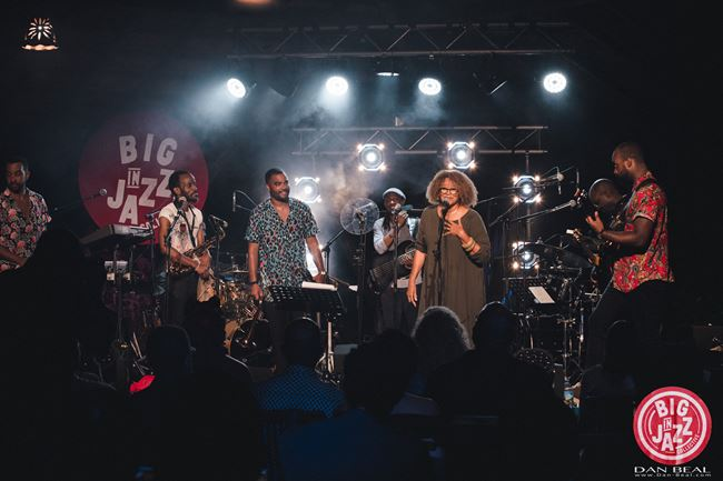 "Martinican singer Jocelyne Béroard and the ""Big In Jazz Collective"""