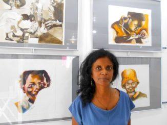 L'artiste guadeloupéenne Micheline Souprayen