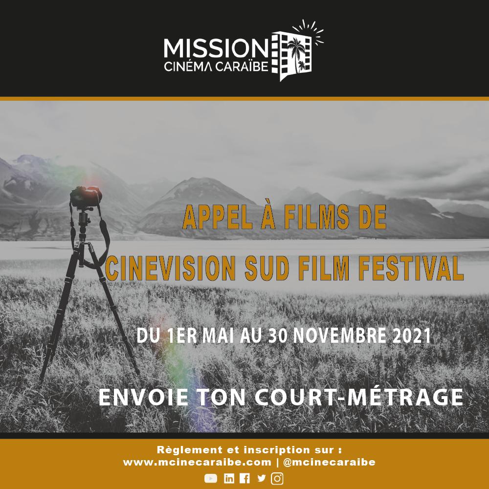 appel à films de Cinevision sud film festival 1ER mai au 30 novembre 2021
