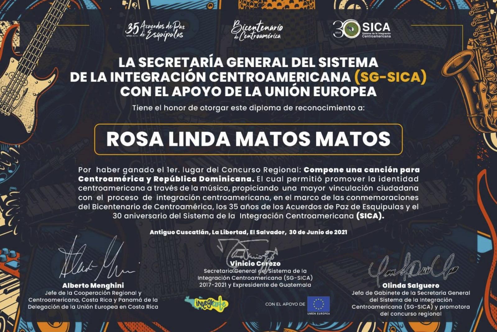 Certificado Conferencia SICA