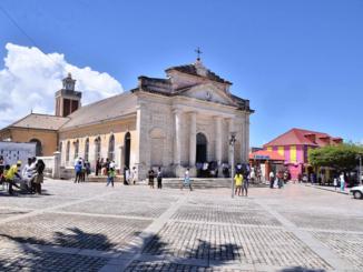 Saint Jean-Baptiste Catholic Church in Le Moule, Guadeloupe