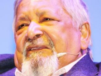 V.S. Naipaul in Bangladesh, 2016. Photo: Faizul Latif Chowdhury