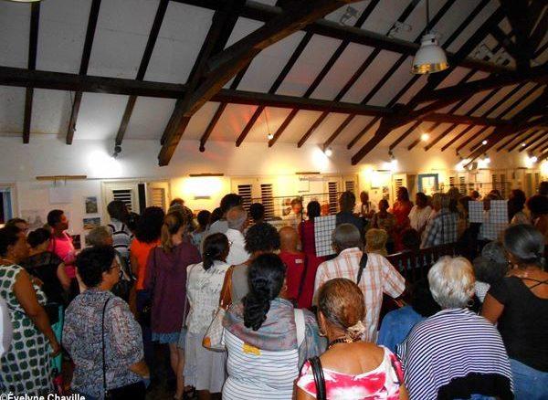 """Vernissage de l'exposition """"la Pointe, hier et aujourd'hui"""" - Photo: Évelyne Chaville"""
