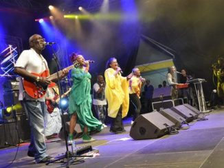 Kassav' concert at the Baie-Mahault stadium in 2013 (GUADELOUPE)