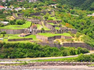 37th European Heritage Days: aerial view of Fort Louis Delgrès in Basse-Terre (GUADELOUPE)