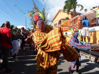 """Masques de Vieux-Fort"" or ""Mas Vyéfò"" from Guadeloupe in Montserrat in march 2018 - Photo: Mas Vyéfò"