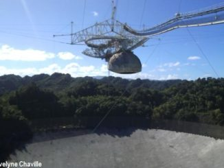 The Arecibo Observatory with its giant radio telescope in 2014 - Photo: Évelyne Chaville