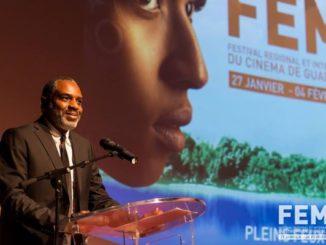 El director de cine Jean-Claude Flamand-Barny originario de Guadalupe y Trinidad & Tobago en la 23ª edición del Fémi en 2017