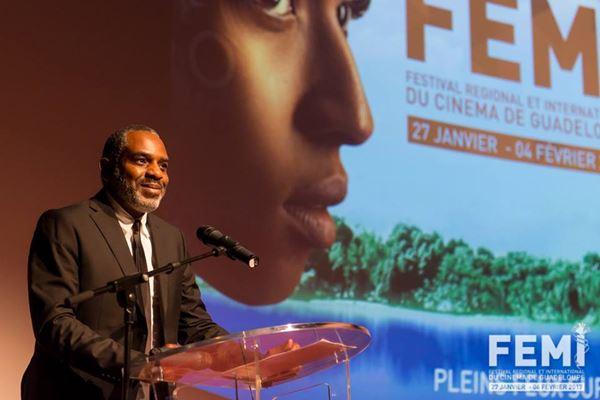 Le réalisateur Jean-Claude Flamand-Barny, originaire de la Guadeloupe et de Trinidad & Tobago, lors de la 23e édition  du Fémi en 2017