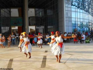 Commemoration of the abolition of slavery in Guadeloupe on 27 May 2018 at Memorial ACTe with the Lakadémiduka association - Photo: Évelyne Chaville