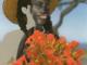 Ayoowiri Girl with poinciana flowers (2020) de Joiri Minaya